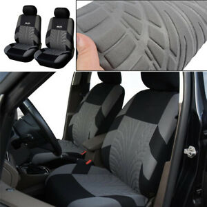 Black-Classic-Washable-Embroidery-2-PCS-Car-Seat-Covers-Front-Set-Accessories