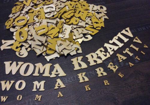 4cm NF14 Alphabet Dekoration Selbstklebend Lesen 250+ Holz kleine Buchstaben