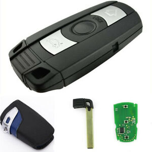 Car-3-Buttons-315Mhz-Remote-Key-Uncut-Blade-with-Leather-Key-Case-Bag-for-BMW