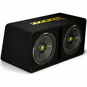 KICKER-44DCWC122-CAR-12-034-PRELOADED-COMPC-AUDIO-SUBWOOFERS-ENCLOSURE-BOXED-SUBS