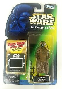 Zuckuss Freeze Frame Slide Star Wars POTF Kenner Hasbro 1997 Sealed Figure