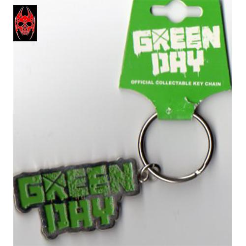 Bien Informé Portachiavi Keychain Logo Metallo Metal Logo Green Day New Gift Original