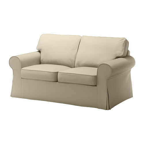 New Complete Fabric Slipcover Ikea Cover for Ektorp Loveseat Tygelsjo Beige