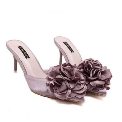 8 Stiletto Eleganti Cm Sabot Cw527 Fiore Rosa Ciabatte Donna Sandali wIfqTx4XX