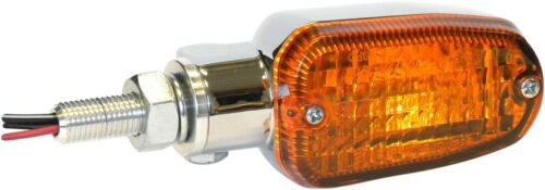 K/&S Chrome Amber Lens 3 Wire DOT Motorcycle Turn Signals Incandescent