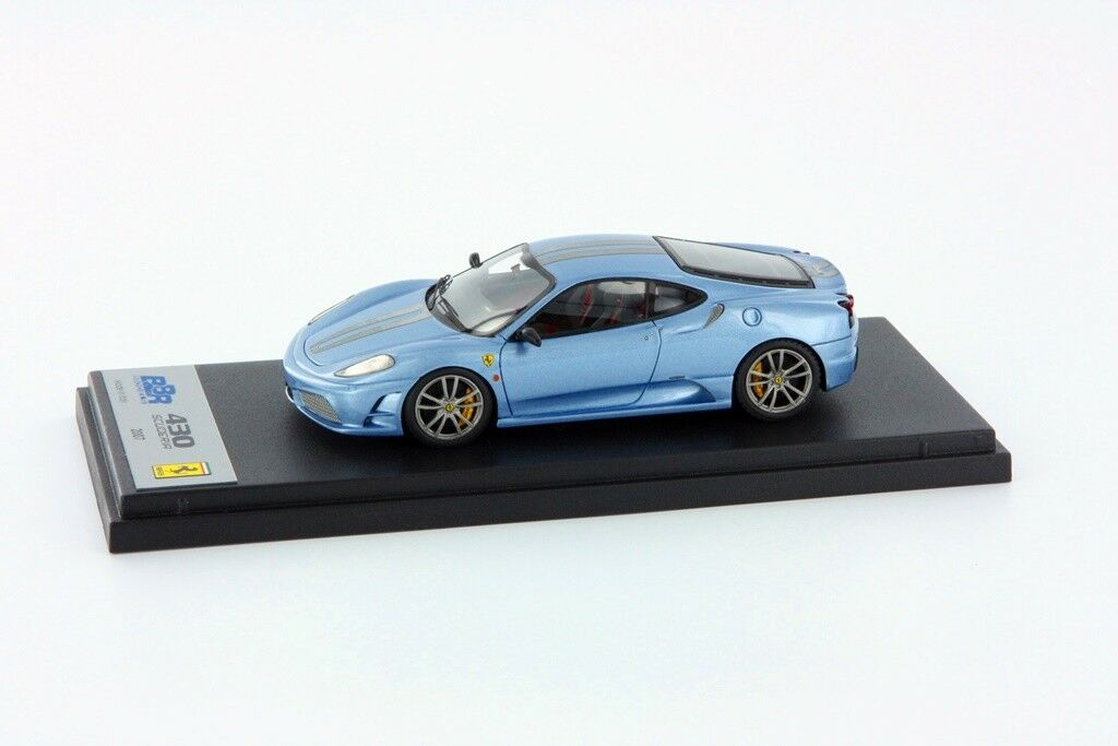 1 43 BBR BBR200B Ferrari F430 Scuderia 2007 bleu with Stripes NEW