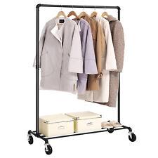 Metall Kleiderständer auf Rollen Garderobenständer mit kleiderstange HSR61BK