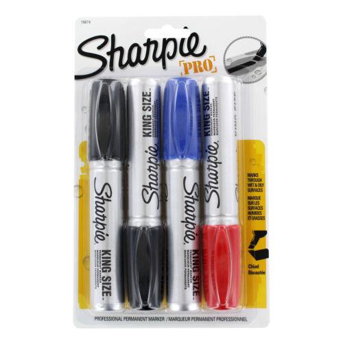 """/""""Sharpie King Size Markers 4//set/"""" Blue//red//black Chisel Tip"""