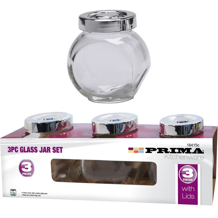3pc verre bocal à épices set Sel Poivre Herbes Cuisine CONFITURE MIEL conteneur bouteille