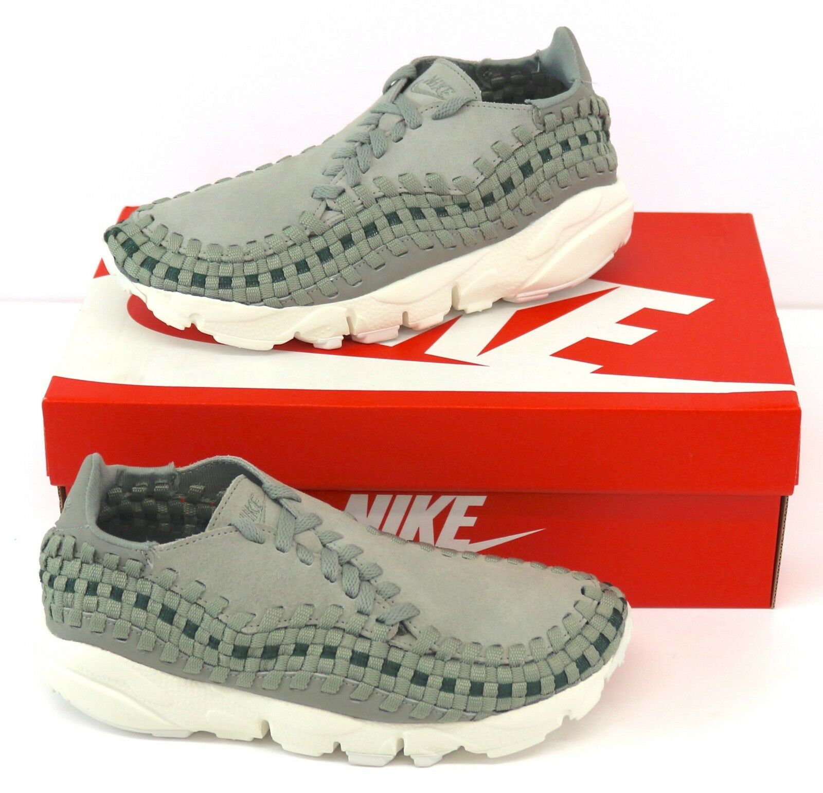 Nike Air Footscape Woven 917698-003 femmes Trainers - Dark Stucco/Sail (Green)