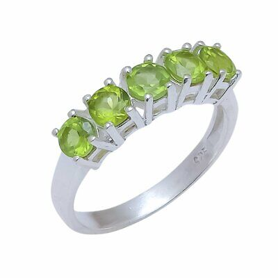 Sterling Silver Ring Sale low price Natural peridot Gemstone Ring,Women Ring Solid 925 Silver Ring engagementWedding ring All sizes.
