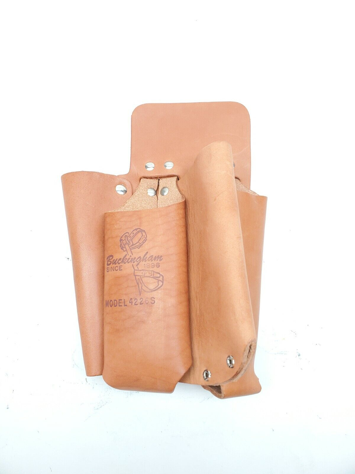 Buckingham Linemans Leather Tool Pouch 4 Pouch Tool Bag