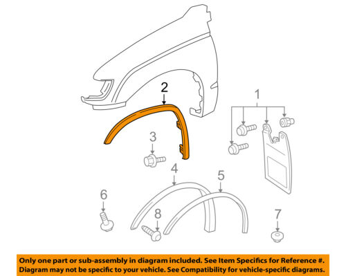 TOYOTA OEM Tacoma Front Fender-Wheel Well Flare Arch Molding Left 7508635010
