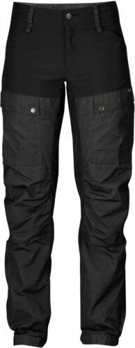 36 schwarz robuste Wanderhose für Damen Fjäll Räven Keb Trouser Women Gr