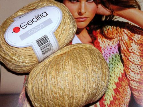 600g Fiocco Gedifra amarillo vainilla lana algodón Schachenmayr gangas PVP 71 €