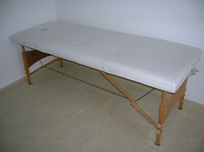 Massagebank Massageliege Massagetisch Holz Klappbar 2 / 3 Zonen Mobil
