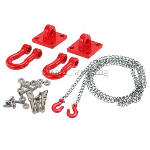 1//10 Tow Anhängerkupplung Kettenhaken für RC Axial SCX10 RC4wd D90 D110 TF2
