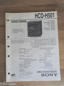 repair manual sony hcd h501 compact disc deck receiver