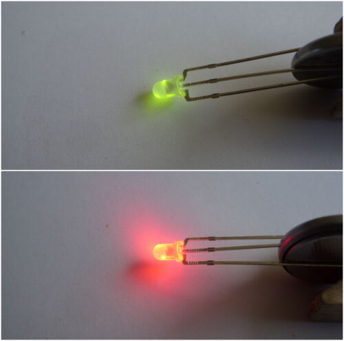 resistors Dual LEDs RED GREEN  X 20  common anode inc