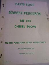 VINTAGE MASSEY FERGUSON  PARTS MANUAL - # 124 CHISEL  PLOW - 1966