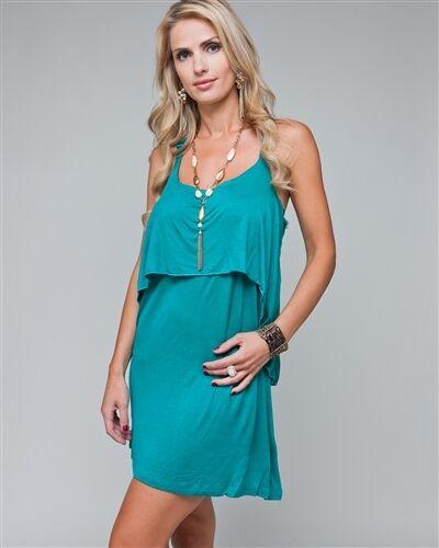 WOMENS Dress Summer Sun Y back tiered bodice Trendy Chic S M//L L//XL adjust strap