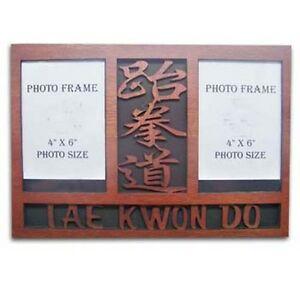 Details about Taekwondo Wooden Double Photo Frame Display Item:08440 TKD Martial Arts Gifts