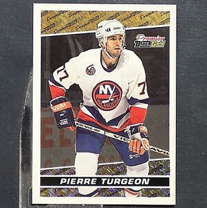 PIERRE-TURGEON-1993-94-Topps-Premier-Black-Gold-20-New-York-Islanders