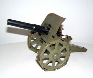 Tintoy-Blechspielzeug-28-cm-Kanone-Geschuetz-mit-Laufschuhen-Amorces-Funktion