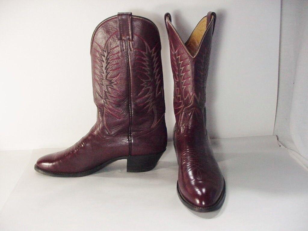 Lote   NOCONA, TEXAS Cuero Occidental botas De Vaquero  tamaño 9 D  estilo