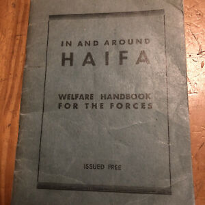 WW2-1945-AROUND-HAIFA-WELFARE-HANDBOOK-FOR-FORCES-Army-Military-Soldier-Map-Book