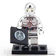 Custom Chrome TC-14 Droid Star Wars Minifigure fits with Lego UK Seller PG638
