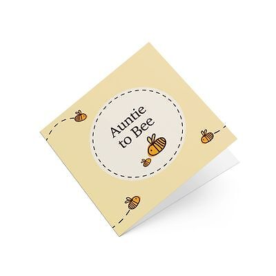 Auntie To Bumble Bee Greeting Card Cute Be Babyshower New Baby Congratulations