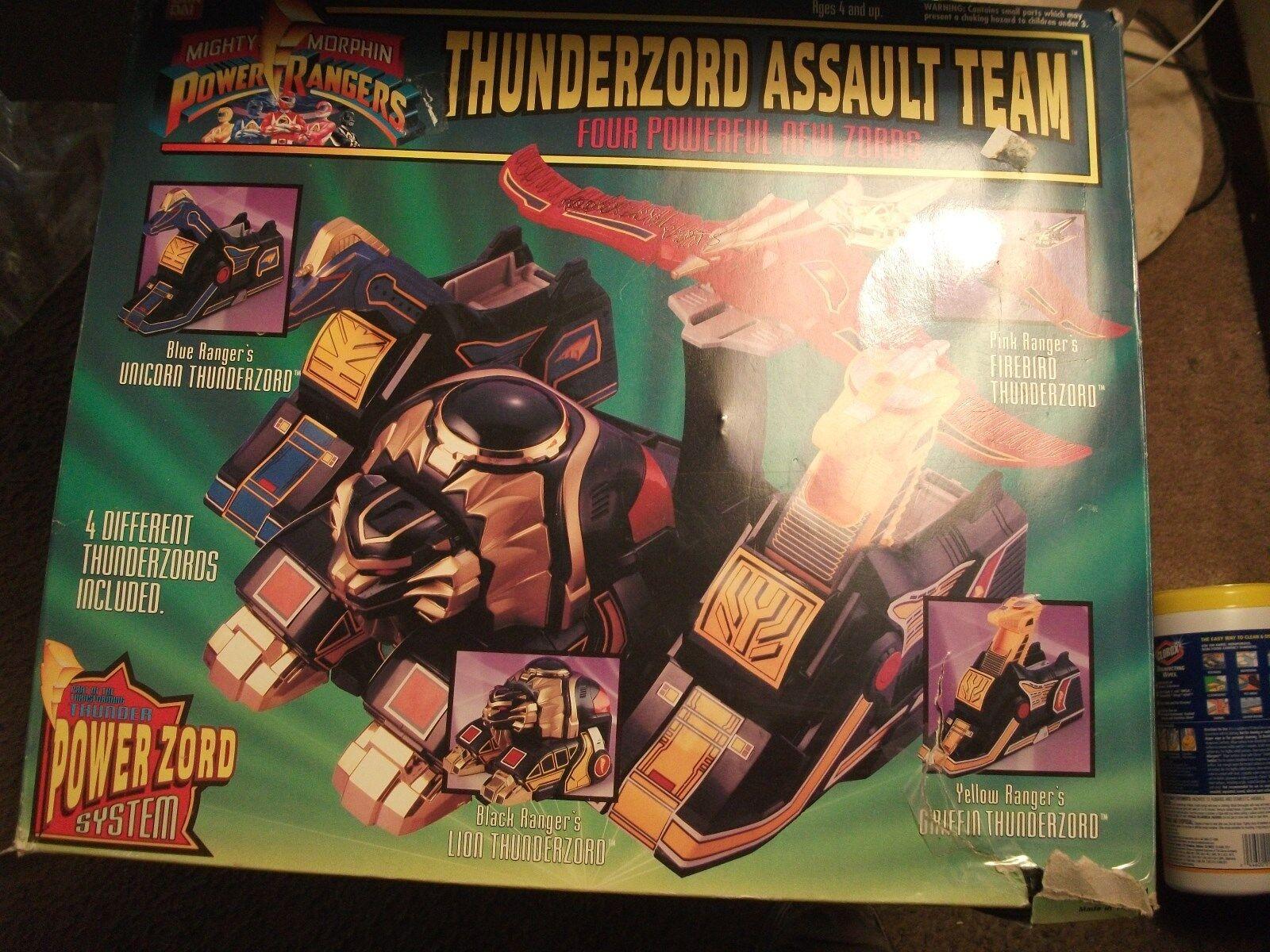 Vintage Thunderzord Assault Team Bandai Power Rangers Zords w/ Box 1994