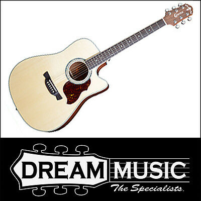 Acoustic Electric Guitars Musical Instruments & Gear Spruce Top Mahogany B/s Natural Gloss 6 String Acoustic Rrp$949 Pure White And Translucent Straightforward Crafter De8/n