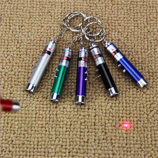 Hot Random Color 2 In 1 Red Laser Pointer Pen Funny LED Light Pet Cat Toys