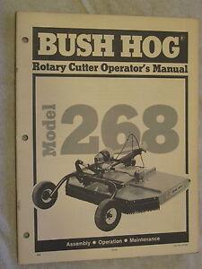 Bush Hog Model 268 Rotary Cutter Mower Operator S Manual