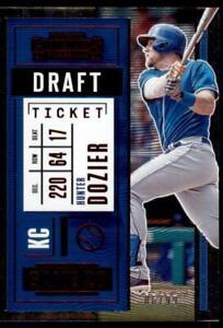 2020-Contenders-Draft-Ticket-Red-97-Hunter-Dozier-99-Kansas-City-Royals