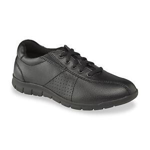 894f37fc1838 Cobbie Cuddlers Women s DORIAN Black Duty Leather Oxford Sneaker ...