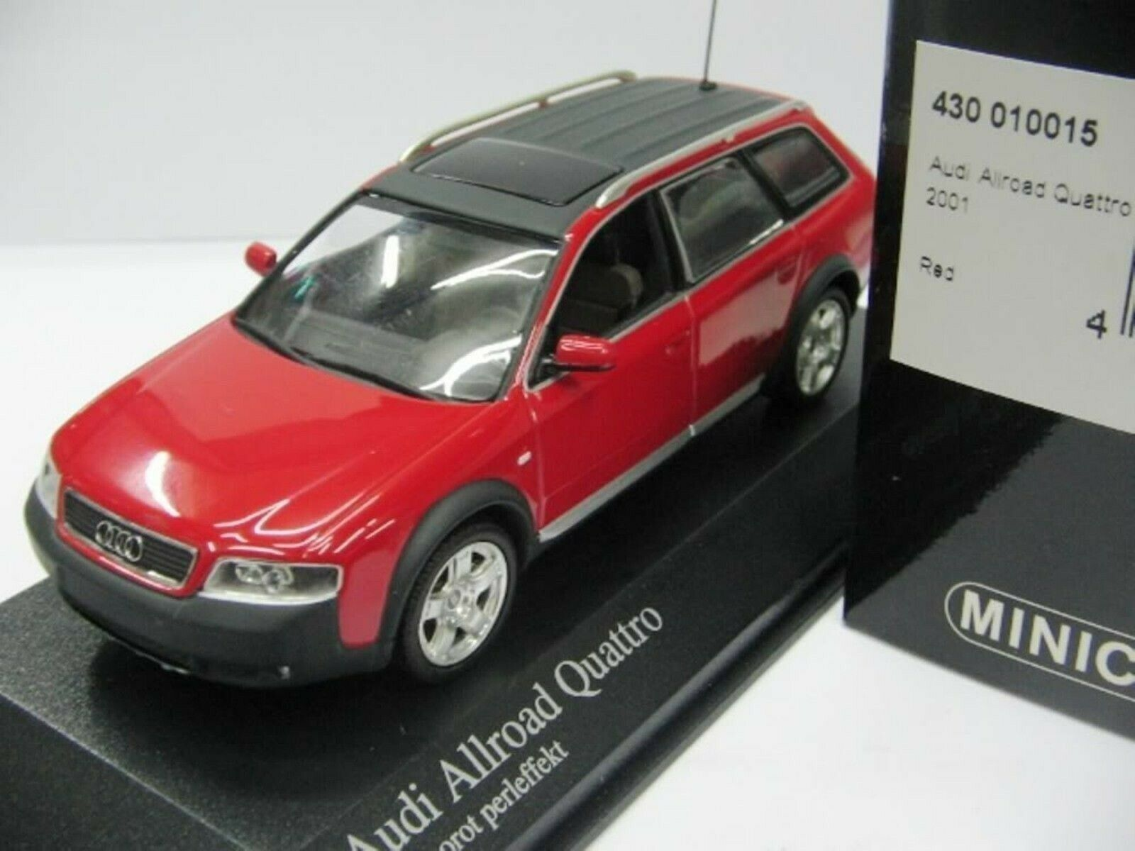 WOW EXTREMELY RARE Audi A6 C5 Avant Allroad 2.7 Quattro 2001 Red 1 43 Minichamps