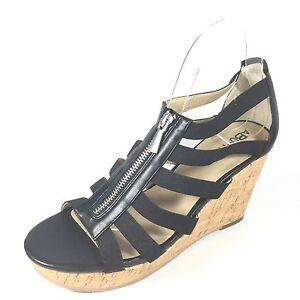 703de705203 Abound Women's Size 8 M Black Strappy Open Toe Platform Wedge ...