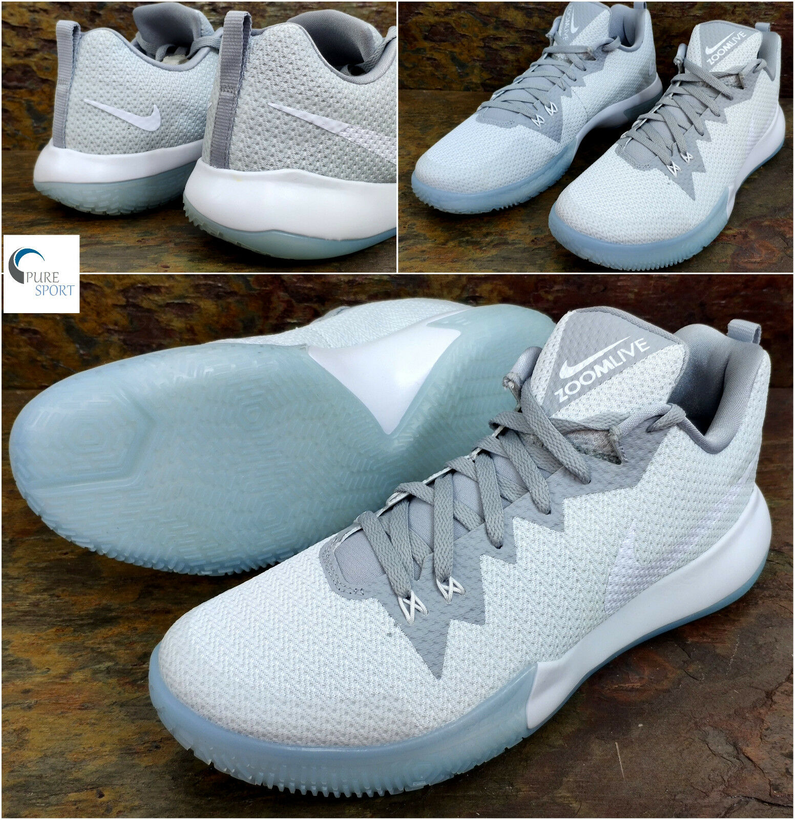 Nike Zoom Live II  Basketball Trainers   Uk 12 Eu 47.5     AH7566-101   PureS