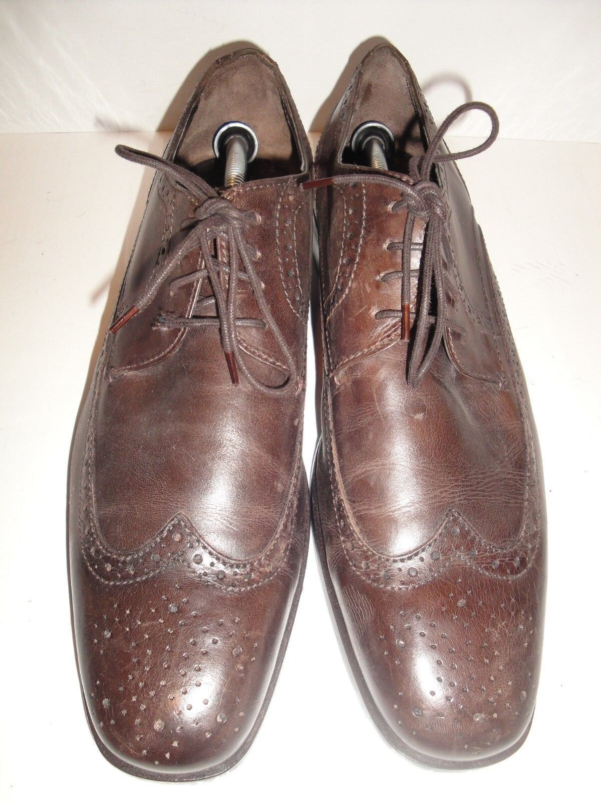 Bostonian Brown Leather Wingtip Brogues Men's shoes Size 11M