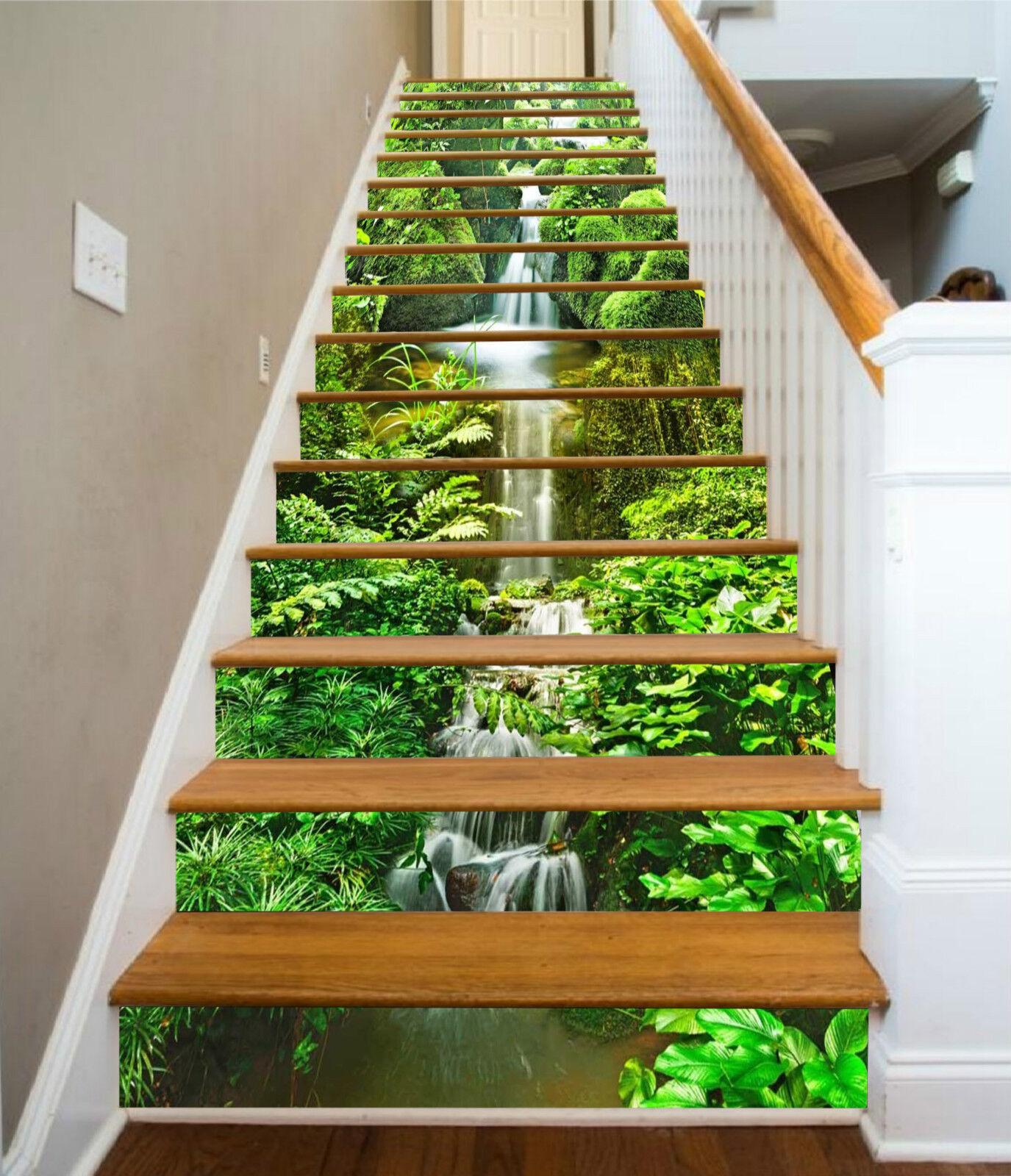 3d belle ruisseau 23 Stair Risers Décoration Papier Peint Vinyle Autocollant Papier Peint De