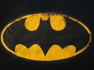 Batman-Classic-Logo-Men-039-s-Medium-Black-T-Shirt-Graphic-Tee-M