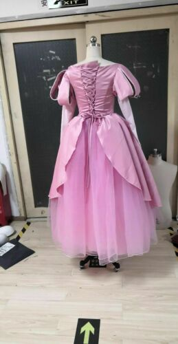Adult The Little Mermaid Princess Ariel Pink Gown Tulle Dress Costume Cosplay Mi Tiles Com