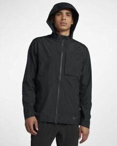 Details about Men Nike AeroShield Running Jacket 928477 010 SIZE XL Black