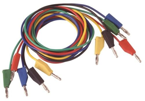 Highly flexible Test Cable with laboratory Connectors 1,00 Metre In Red