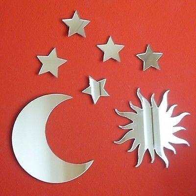 Mond und Sterne Spiegel Bündel von Sonne