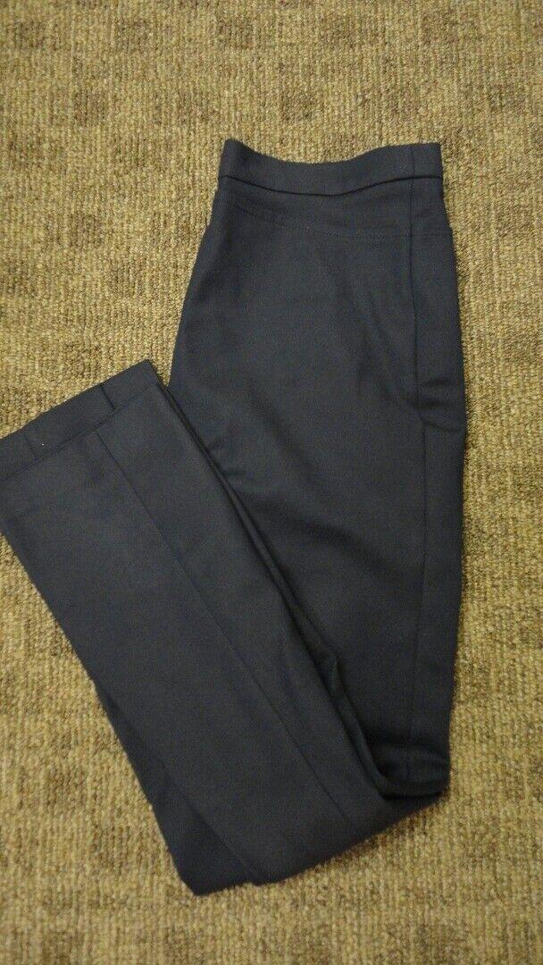 AKRIS PUNTO Navy Blau Side Zip Solid Cotton Leg Seam Pants Sz 6 GG8318