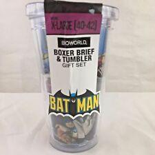 Batman Boxer Brief And Tumbler Gift Set XL 40-42 Bioworld BPA Free